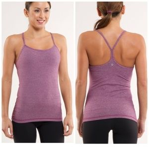 Lululemon Burgundy Power Y Tank